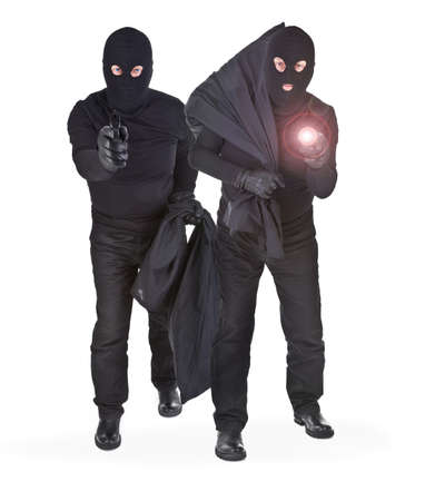 pair of two robbers on white background Stock Photo - 16671949