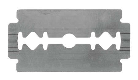 razor blade: razor blade isolated on white background Stock Photo