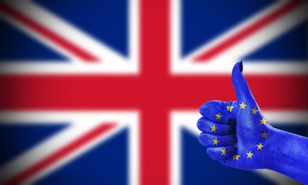 Conceptenfoto - positieve houding van de Europese Unie voor het Verenigd Koninkrijk Stockfoto