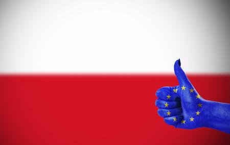 Steun van de Europese Unie voor Polen Stockfoto