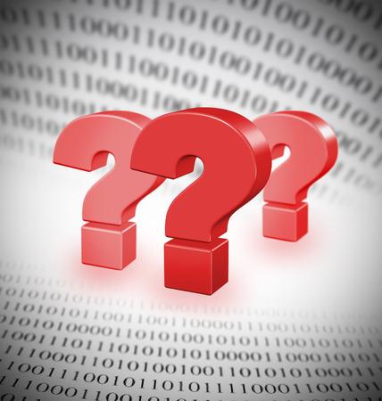 Raadsels van moderne technologieën, abstracte binaire code, de focus op de grootste vraag m ark