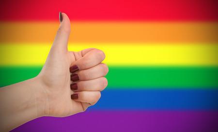 Concept foto - Positieve houding voor de LGBT-gemeenschap