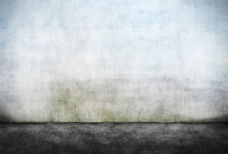 Abstracte lege vuile muur met vuile voorgrond Stockfoto