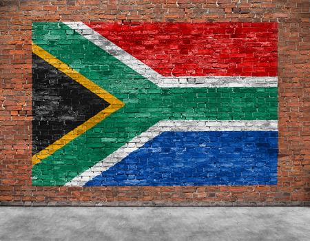 Vlag van de Republiek van Zuid-Afrika en een deel van de voorgrond Stockfoto