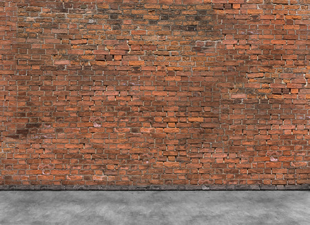 Old empty brick wall with part of foreground Stock Photo - 38618864