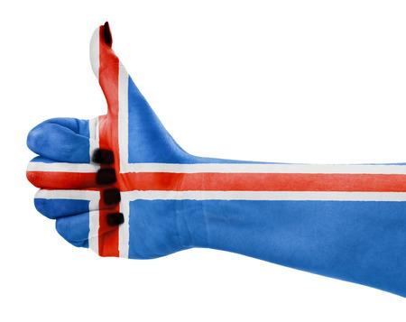 Vlag van IJsland geïsoleerd op witte achtergrond