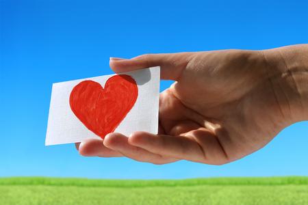 Liefde bericht op kleine visitekaartje