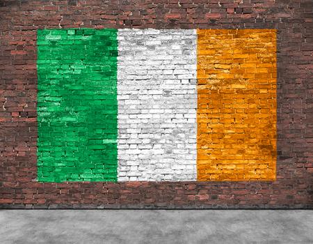Vlag van Ierland en een deel van de voorgrond