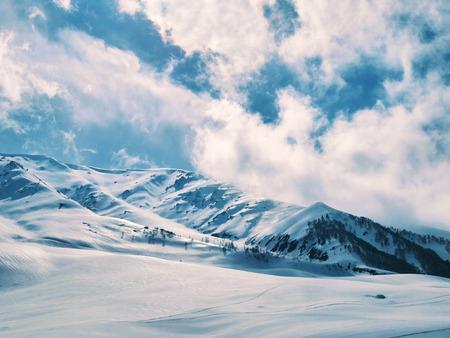 kashmir: Beautiful snow moutain landscape taken in Kashmir, India