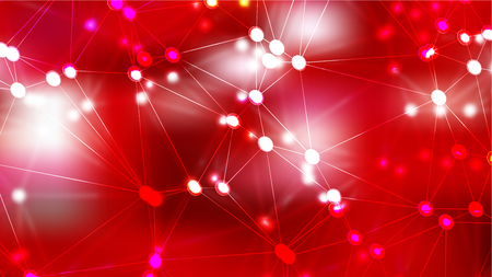 Connecting Dots and Lines Red Abstract Background Image Archivio Fotografico - 120633986