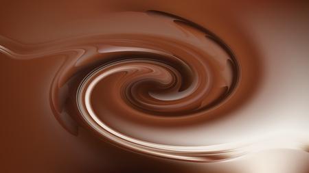 Coffee Brown Spiral Background Texture