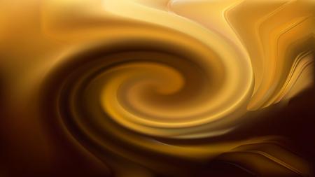 Abstract Orange and Black Twirl Background Image