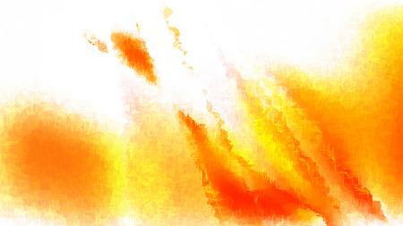 Orange and White Grunge Watercolor Texture Standard-Bild