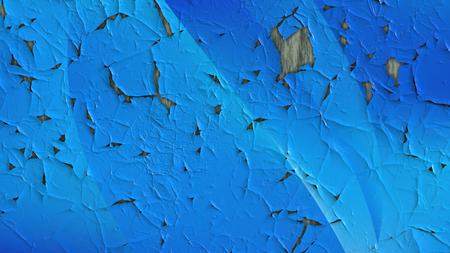 Blue Peeling Paint Texture Foto de archivo
