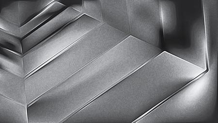 Coole graue glänzende Metallstruktur