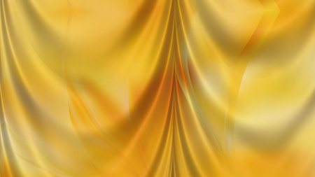 Abstract Amber Color Satin Drapes Background Фото со стока