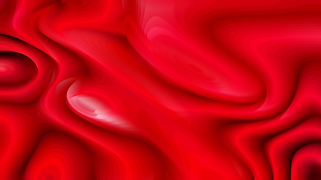 Bright Red Curvature Ripple Background