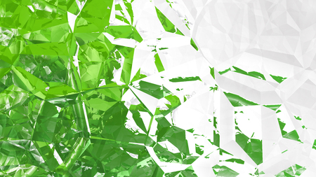 Green and White Crystal Background Archivio Fotografico