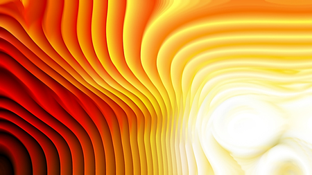 Orange and White 3d Abstract Curved Lines Texture 免版税图像