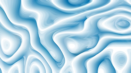 Abstract 3d Blue and White Curved Lines Background 写真素材