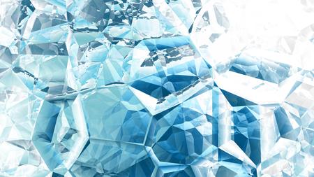 Niebieskie i białe kryształowe tło