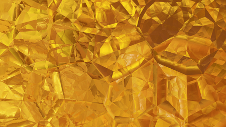 Gold Crystal Background Stock Photo