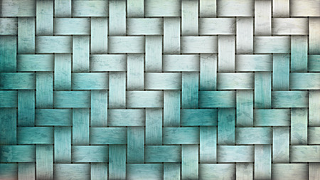 Turquoise and White Woven Basket Texture Background