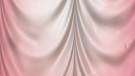 Abstract Light Pink Satin Drapes Stock Photo