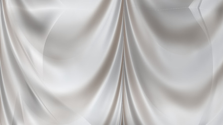 Abstract Light Grey Satin Curtain Background Stock fotó