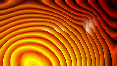 Red and Yellow 3d Curved Lines Texture Background