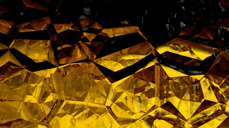 Cool Gold Crystal Abstract background Banque d'images