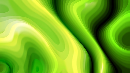 Green and Yellow 3d Curved Lines Texture Stok Fotoğraf