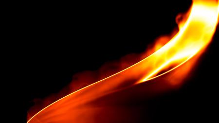 Fuego fondo negro Foto de archivo