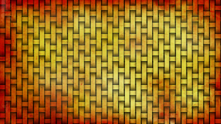 Red and Yellow Weave Rattan Texture Background 스톡 콘텐츠