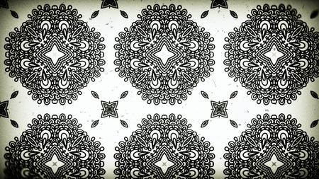 Black and White Vintage Ornamental Pattern Background Stock Photo