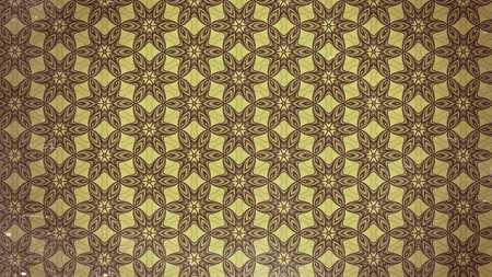 Brown Vintage Decorative Floral Ornament Background Pattern Design Template