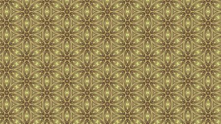Vintage Floral Ornament Pattern Background Design Template Stok Fotoğraf