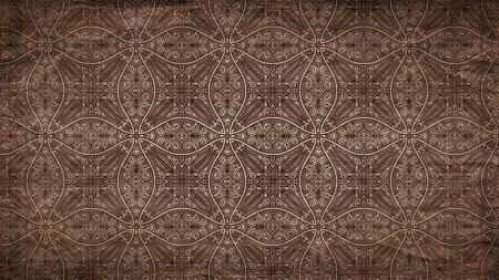 Dark Brown Vintage Floral Wallpaper Pattern