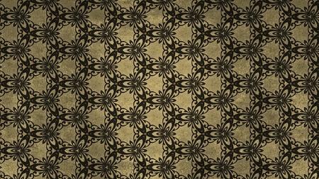 Dark Brown Vintage Floral Ornament Background Pattern Template
