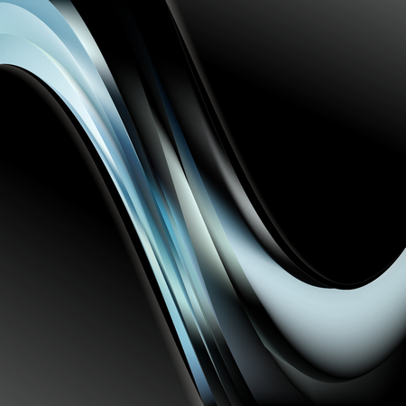 Abstract Black and Blue Wave Business Background Illustration Stock Photo