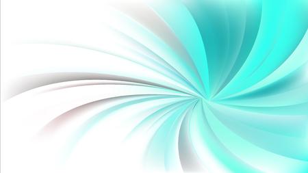 Fond de vortex radial tourbillonnant turquoise et blanc