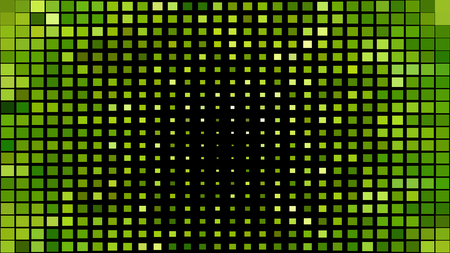 Abstract Green and Black Geometric Mosaic Square Background Vector Graphic