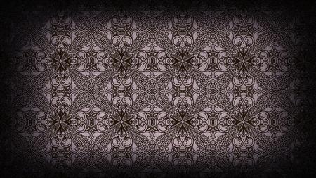 Purple and Black Vintage Ornamental Pattern Wallpaper