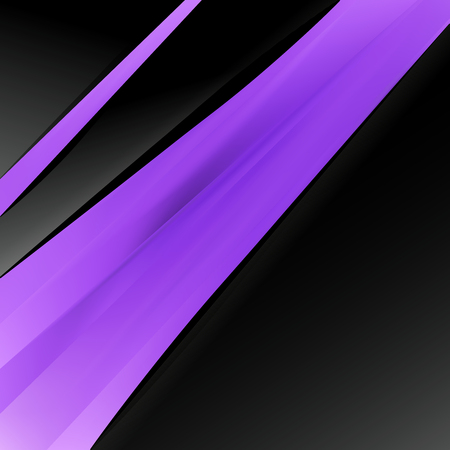 Abstract Purple and Black Business Brochure Design