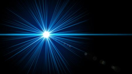 Fond de flash lumineux noir et bleu Banque d'images