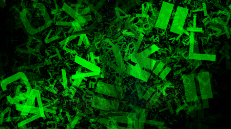 Cool Green Alphabet Letters Texture Image 写真素材