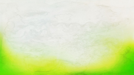 Green Yellow and White Distressed Watercolour Background Stock Photo