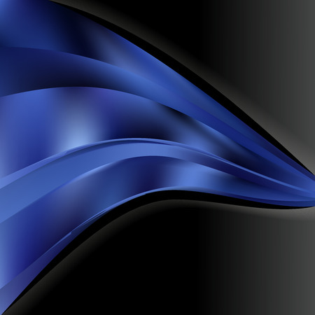Abstract Black and Blue Wave Business Background Design Template Фото со стока