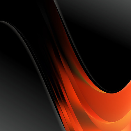 Black Red and Orange Wave Business Background Vector Illustration Фото со стока