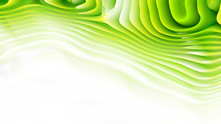 Abstract Green and White Curved Lines Ripple Texture Background 免版税图像
